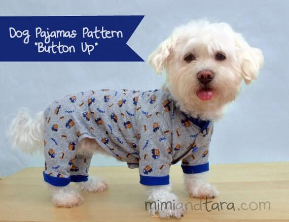 Dog Pajamas Pattern size XL
