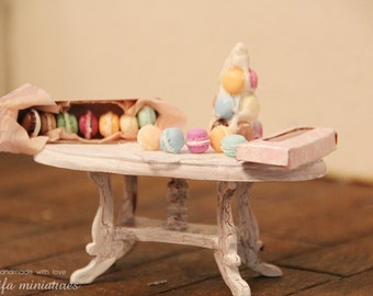 French macaroon. Dollhouse Miniature 1:12