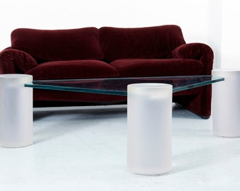 Sculptural Glass Coffee Table