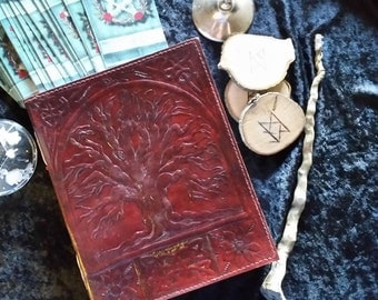 Tree of Life Leather Bound Blank Book