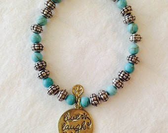 Live, Laugh, Love, Charm Bracelet