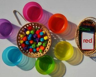 Montessori, Color Sorting, Fine Motor