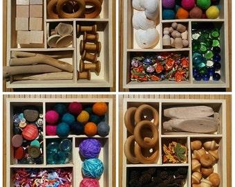 Montessori, Waldorf, Reggio Emilia, Loose Parts, Open Ended Play