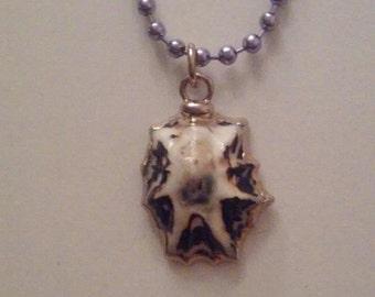 Purple Fantasy Shell Pendant
