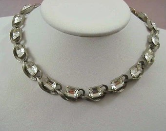 Vintage Jeweled Costume Choker from the 1940's