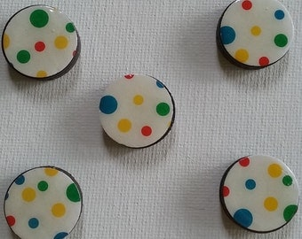 Primary Polka-dots Magnet Set