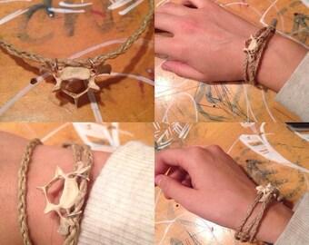 Hemp bone bracelet