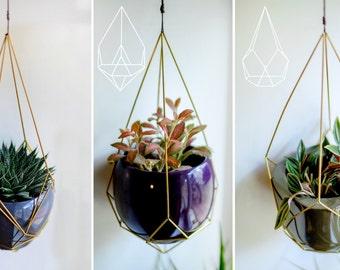 Geometric Hanging Planters
