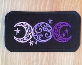 Triple Goddess Embroidered Patch Pagan Witch Wiccan Wicca Magic Biker