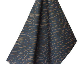 Brand Teatowel in Navy