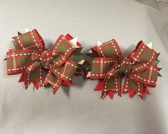 Christmas Season Hair-Bow (pair)