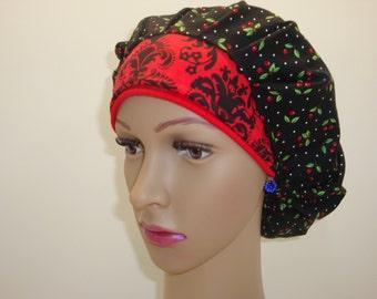 Bouffant-Medical Scrub-Women Cap-Nurses Hat-100% Cotton.