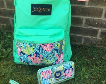 Lilly Pulitzer Inspired Hand-painted Backpack