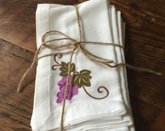 Six Piece Embroidered Cloth Napkin Set