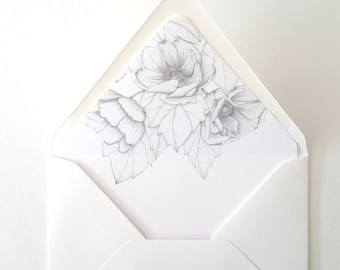 Add on ANEMONE BUNCH Envelope Liner