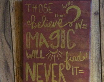 Magic Canvas Quote