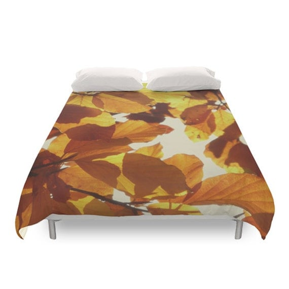 Autumn Leaves Duvet Cover Fall Decor Bedding Nature