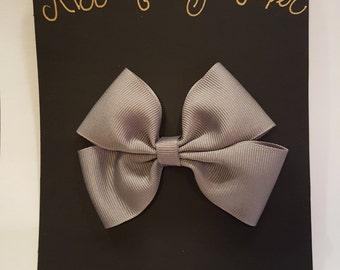 Handmade Grey Hair Bow