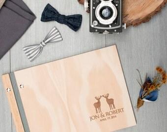 Wedding Guest Book. Wedding Album. Gay Wedding. Custom Wood. Engagement Gift. Anniversary Gift