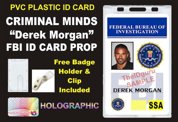 Criminal minds derek morgan fbi id abzeichen card prop - Criminal bureau of investigation mn ...