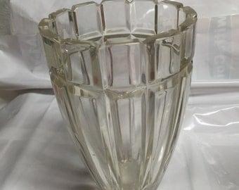 Heavy Crystal Vase - Unique Segmented Design