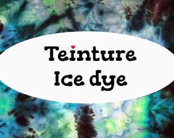 CUSTOM ice dye, woven wrap, baby carrier