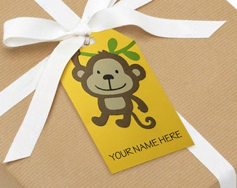 Monkey Gift Tags (set of 10)