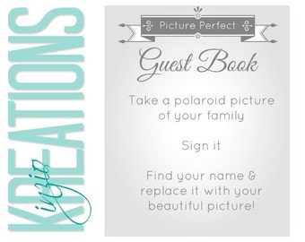 Wedding guest book - Photobooth instructions -