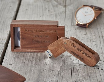 Personalised USB Flash Drive-Personalised Memory Stick-Engraved memory stick-wedding gift-wedding photos-gift for dad-gift for Father's Day