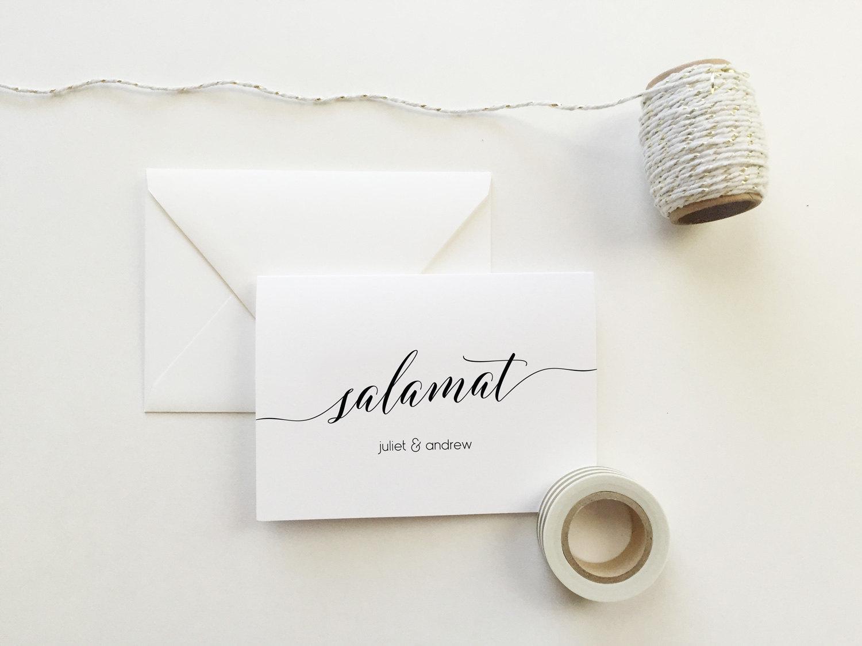 Salamat Wedding Thank You Cards set of 10 Personalized – Personalized Thank You Wedding Cards