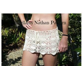 "PDF Crochet Pattern, ""Aphrodite"" Crochet Beach Skirt Boho"