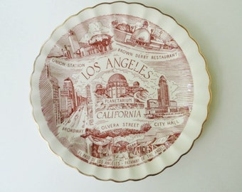 Los Angeles Souvenir Plate Wall Hanging