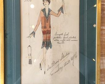 1920's Fashion Sketch