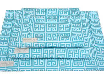 Pet Pad | Blue Dog Mat | Dog Crate Pads | Durable | Water Resistant | Dog Kennel Pad | Machine Washable | Small/Medium/Large/XL Dog Beds