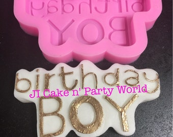 Birthday Boy sign Silicone Mold