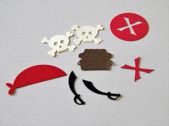 Pirate Party Confetti, Treasure Chest Confetti, Skull Confetti from LittleBannerShop on Etsy Studio