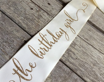 Birthday Girl Sash, The Birthday Girl, Party Sash, Birthday Sash, Girls Night Out, Girls Night, Birthday, Birthday Party, Dirty 30, 21, 16