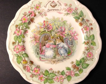 """Brambly Hedge """"SUMMER""""  8"""" Royal Doulton Plate"""