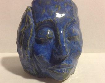 Resting blue mask