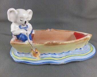 Unusual HTF Blinky Bill Fishing Vintage Australian Pottery