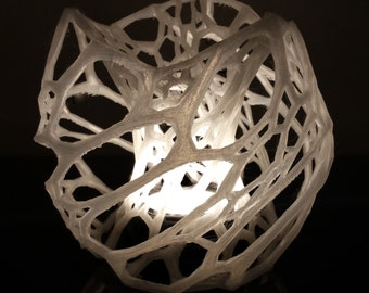 Cellular Lamp-Light 3D Printed with LED Puck Lamp and Dimmer Switch