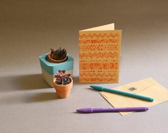 Geometric Silk Screen Greeting Card
