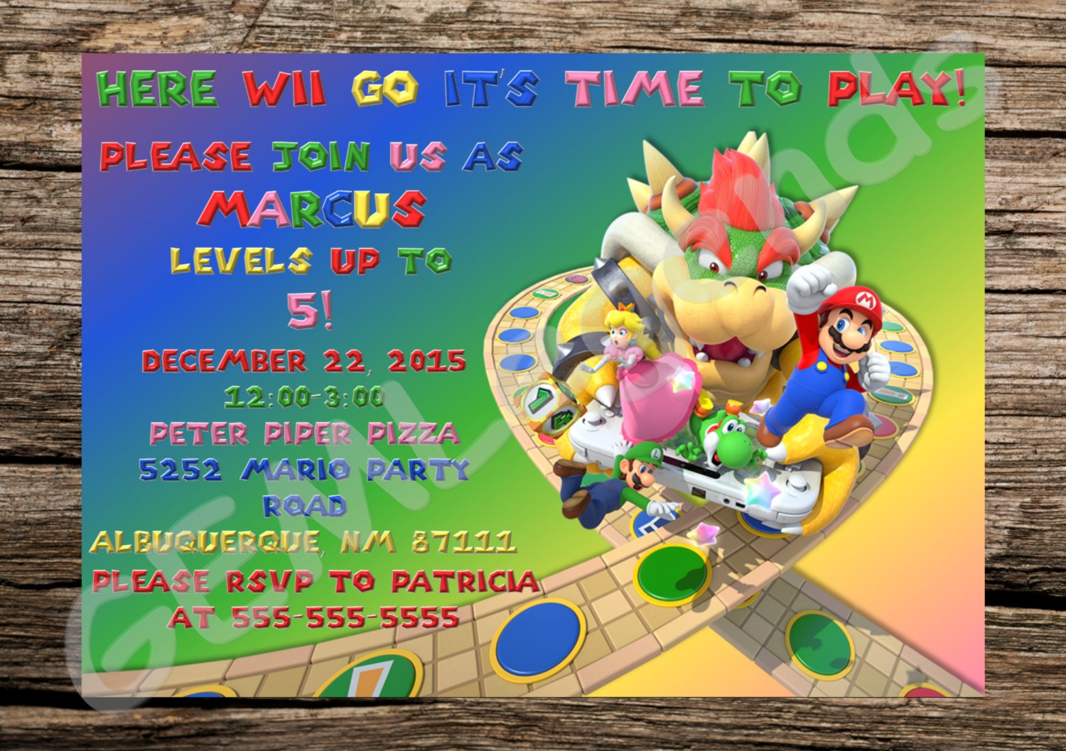 Mario Party Invitations Mario Party Invites Mario Party – Mario Party Invites