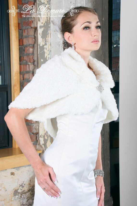 Faux Fur Shawl Wedding Wedding Jacket Wedding Dress Jackets