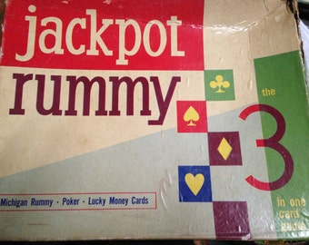 Extremely Rare JACKPOT RUMMY by E.S.Lowe