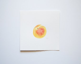 Peach #2 (original watercolor painting)