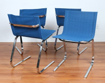 Chrome Set of Mid Century Chairs (4)