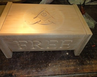 Masonic Free Mason Box 9.5x13 Great for Gifts, Simply Beautiful.