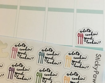 Whats cooking good lookin - meal plan stickers