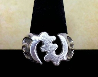 Gye Nyame ring Ankh ring Sterling silver ,925 silver